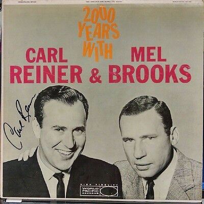 Carl Reiner autogrpahed 2000 Years with album