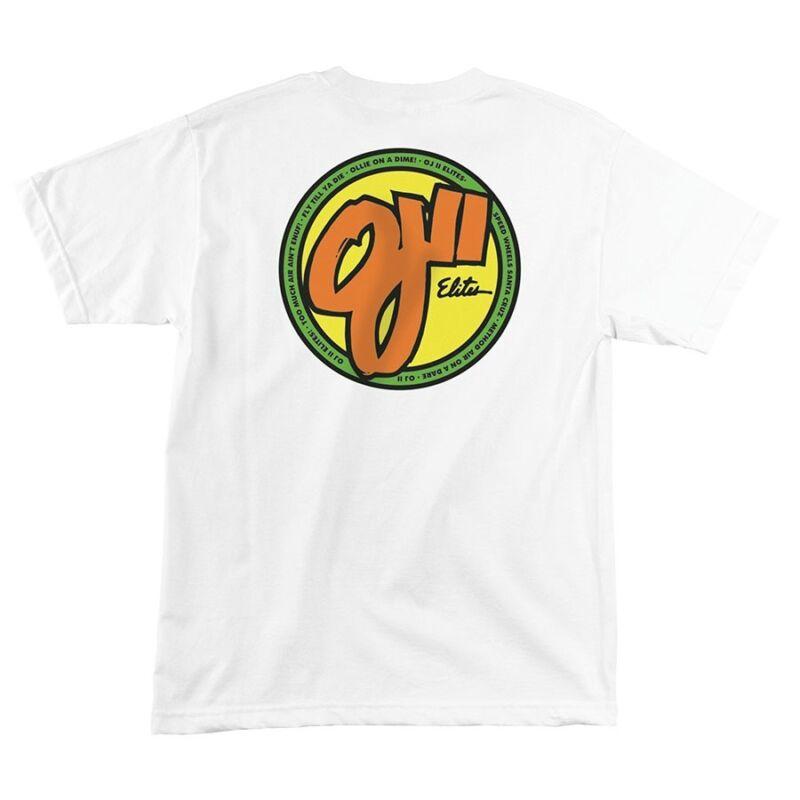 Santa Cruz OJ ELITES Skateboard T Shirt WHITE MEDIUM
