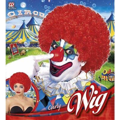 ROTE KLEINE AFRO PERÜCKE 70er Jahre Clown Zirkus Damen Herren Kostüm Party 60042