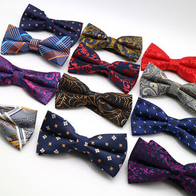 Fashion Men's Bowties  Floral Striped Bow Tie For Men Suit Butterfly (Fashion Stripe Bow)