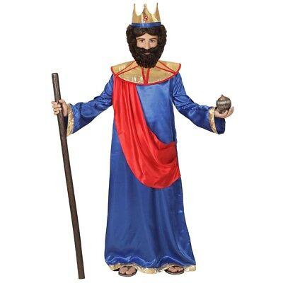 KINDER MELCHIOR KOSTÜM & KRONE Weihnachten Heilige Drei Könige Krippenspiel (Kronen Kostüme)