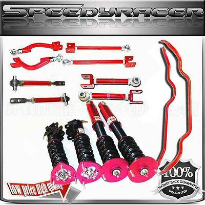 1995-1998 240SX S14 Traction Rods/16 Damper Coilover/Sway Bar/Toe Arm/Camber kit