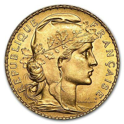 SPECIAL PRICE! France Gold 20 Francs French Rooster AU (Random) - SKU #152604