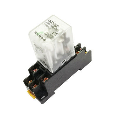 General Purpose Power Relay 10a Ly2nj Dpdt 8 Pins Hh62p Jqx-13f With Socket