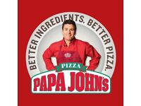Papa Johns Drivers Wanted! Immediate Start!