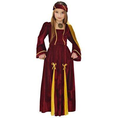 KINDER MITTELALTER KOSTÜM Karneval Burg Schloss Mädchen Prinzessin Party - Mittelalter Kleid Kostüm Mädchen