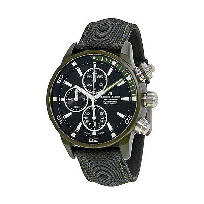Maurice Lacroix Pontos S Extreme Black Dial Leather Mens Watch PT6028-ALB21-331