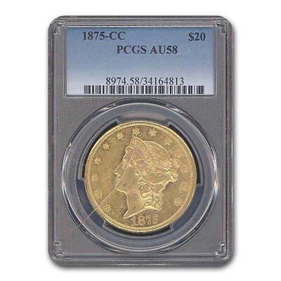 1875-CC $20 Liberty Gold Double Eagle AU-58 PCGS - SKU#52511