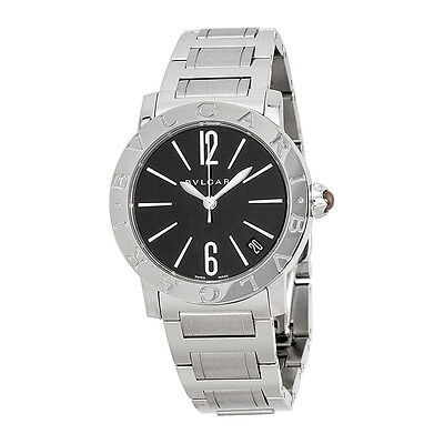 Bvlgari Automatic Black Dial Stainless Steel Watch 102072