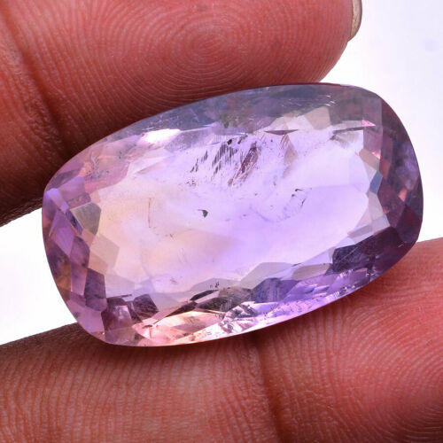34.00 Cts Natural Ametrine Untreated Huge Cushion Faceted Cut Loose Gemstone