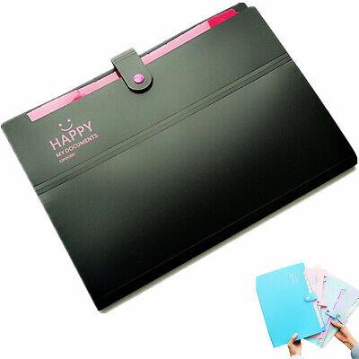 A4 Letter File Folder Paper Document Organizer Bags Storage Pocket - Plastic Folders