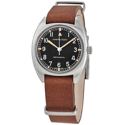 Hamilton Khaki Pilot Pioneer Hand Wind Black Dial Men's Watch H76419531