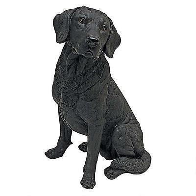 Realistic Pet Lab Black Dog Statue Labrador Retriever Sculpture  - Labrador Statue