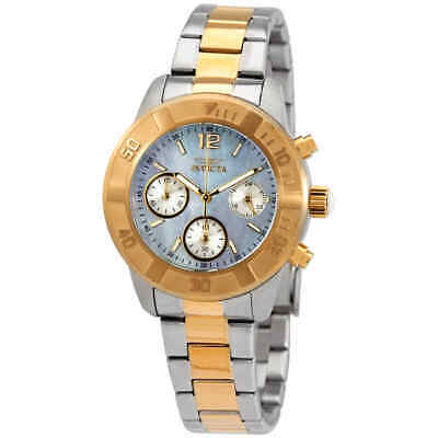 Invicta Angel Mother of Pearl Dial Two-tone Ladies Watch 21613