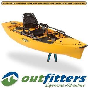 """Mirage Pro Angler 12"" Fishing Kayak by Hobie Cat for Sale - ""Papaya"" - Stock #110901"