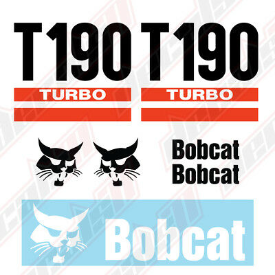 Bobcat T190 Turbo Skid Steer Set Vinyl Decal Sticker - Aftermarket