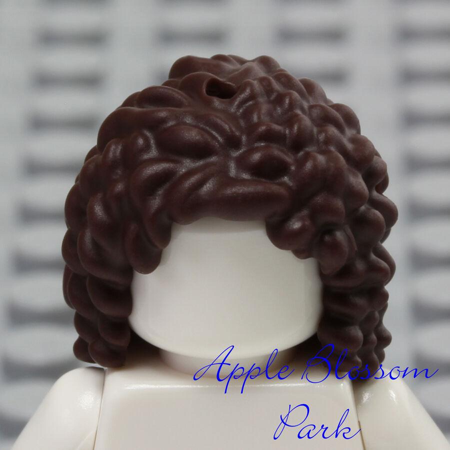 Friends Short Curls Head Gear NEW Lego Girl Minifig Long Curly Dark BROWN HAIR