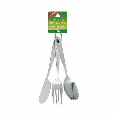 New Authentic Coghlans Cutlery Set 3-Pc Stainless Steel Utensils Cookware 9166