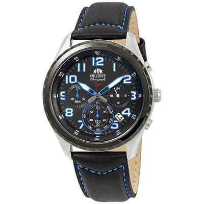 Orient Sporty Chronograph Black Dial Men's Watch FKV01004B