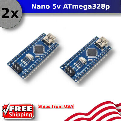 2pcs Arduino Nano V3.0 16m 5v Atmega328p Micro-controller Board Mini Usb Ch340g