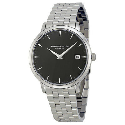 Raymond Weil Toccata Black Dial Steel Bracelet Mens Watch 5588-ST-20001
