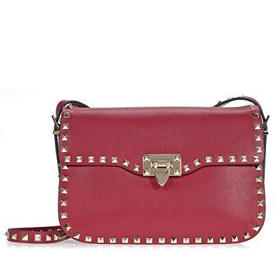 Valentino Rockstud Shoulder Bag - Rubino Red