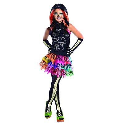 KINDER SKELETT KOSTÜM SET Halloween Monster High Skelita - Monster High Skelita Halloween Kostüm