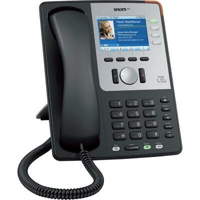 New Snom 821 Sip Voip Black 12-line Color Display Gigabit Phone Base Handset Poe