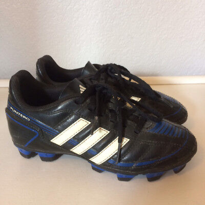 buy popular 7e046 532ce Adidas Puntero boys 1.5 Y black blue soccer cleats shoes lace up 1 12 youth  kid