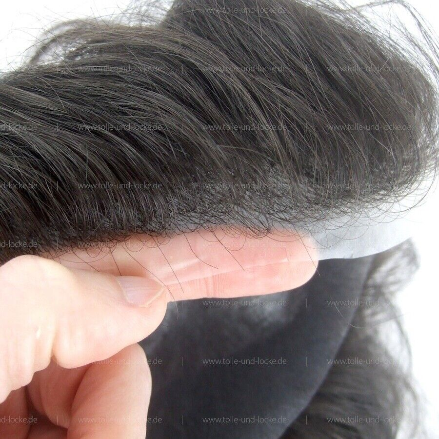 Haarsystem / Toupet, sehr dünne Folie, Ultra Thin Skin, Farbe #1 in Hannover
