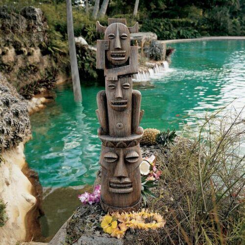 "35"" Polynesian Tiki Totem Party Gods Statue Pool Spa Tropical Island Luau Patio"
