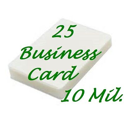 25 Business Card Laminating Laminator Pouches Sheets 10 Mil 2-14 X 3-34