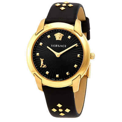 Versace Audrey Quartz Black Dial Ladies Watch VELR00319