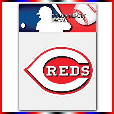 Cincinnati Reds MLB Die Cut Vinyl Sticker Car Bumper Window 2.9