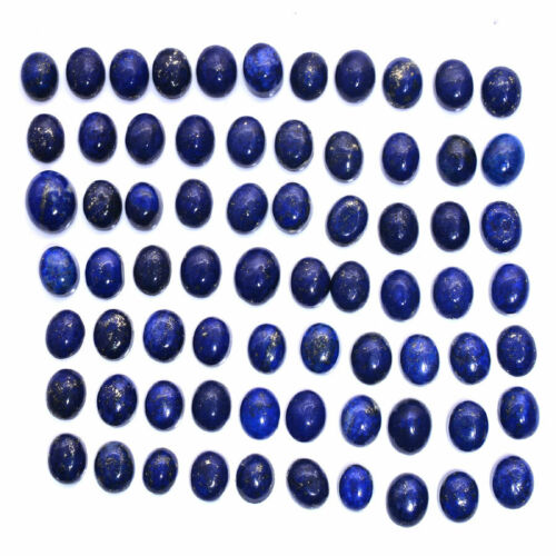 561 Ct Natural Gold Pyrite Lapis Lazuli Oval Cabochon Loose Gemstone Lot~214 PC
