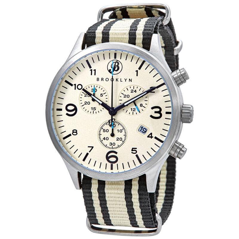 Brooklyn Watch Co. Bedford Brownstone II Chronograph Quartz Men Watch