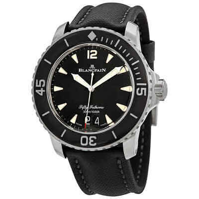 Blancpain Fifty Fathoms Grande Date Automatic Black Dial Men's Watch