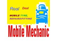 REAL DEAL MOBILE MECHANICS/MOBILE TYRE,S FITTING /REPAIRS BEST 24/7 SUTTON LONDON SURROUNDING AREA,S
