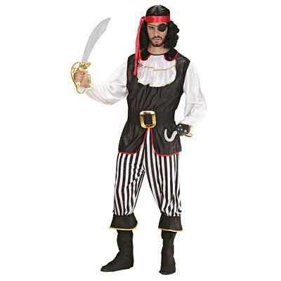 DELUXE HERREN PIRATENKOSTÜM # Karneval Karibik Piraten Seeräuber Männer (Karibik Piraten Kostüm Herren)