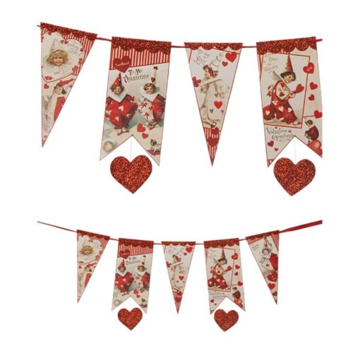 NEW Bethany Lowe Valentine Clown Banner Valentine