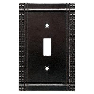 BRAINERD MISSION ARTS & CRAFTS SOFT IRON SINGLE TOGGLE SWITCH PLATE (Art Single Toggle Switch)