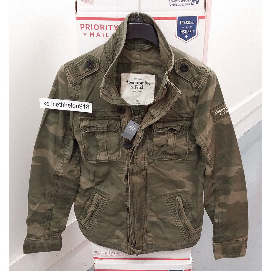 7f4d580f35f2 купить ABERCROMBIE FITCH MENS OUTERWEAR, с доставкой ABERCROMBIE FITCH MENS  MILITARYINSPIRED NOONMARK SHIRT JACKET CAMO