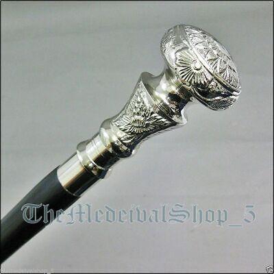 "Vintage Antique Brass Beautiful Wooden Walking Stick Cane 36/"" For Old Men Gift"