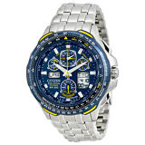 Citizen Blue Angels Skyhawk A-T Eco Drive Stainless Steel Mens Watch JY0040-59L