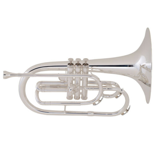 King K20SP Silver Mellophone, Factory Clearance! Limited Quantity Auth Dealer!