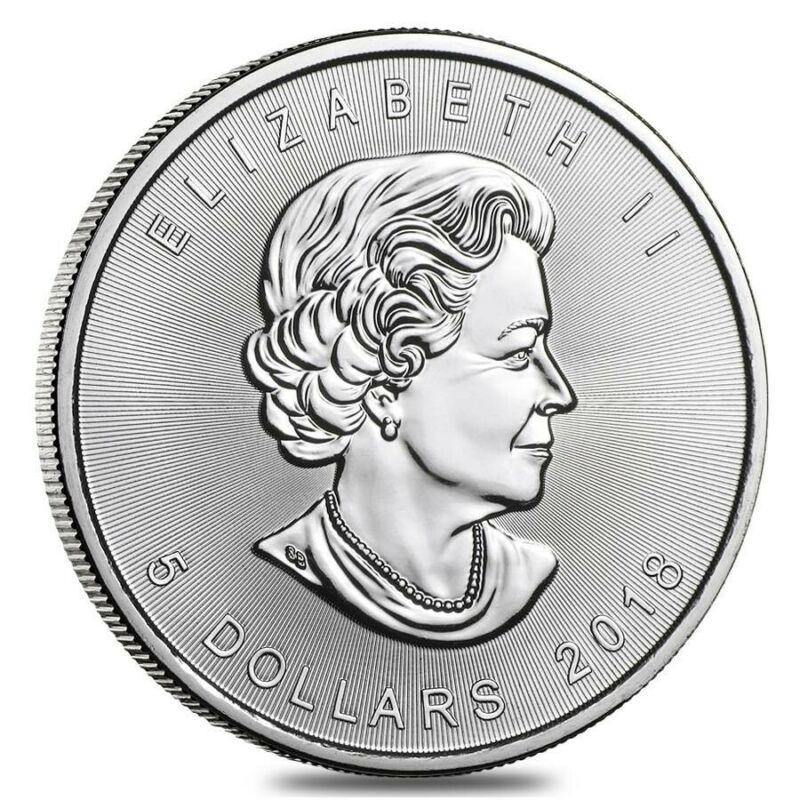 2018 $5 CANADA SILVER MAPLE LEAF BRILLIANT UNCIRCULATED 1 OZ .9999 SILVER