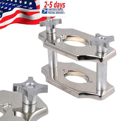 Silver Color Dental Reline Jig Single Compress Press Durable Dental Lab 2-post