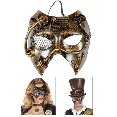 STEAMPUNK MASKE Gothic Fantasy Steam bronze Viktorianisches Kostüm - Punk Kostüm Zubehör