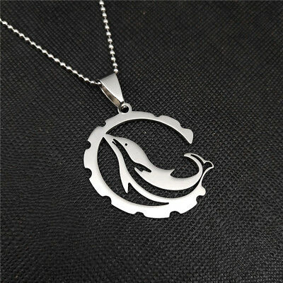 Lovely Dolphin Silver 316L Stainless Steel Titanium Pendant Necklace Q41 (316l Stainless Steel Dolphin)