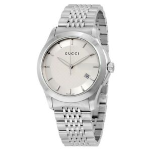 70e93a3ca53 Gucci Men s YA126401 G-timeless Stainless Steel Bracelet Watch for ...